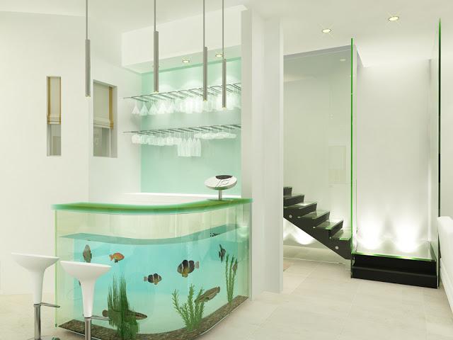 Nautic: bar aquarium