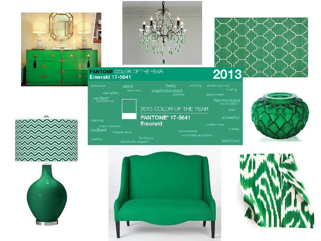 F: Green mood-board