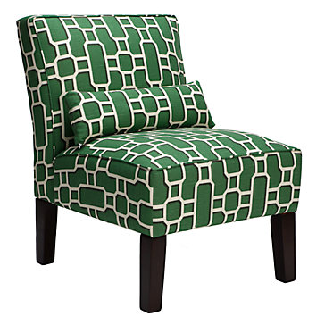 F: Green Chair bailey-accent-chair-geometric-017399801