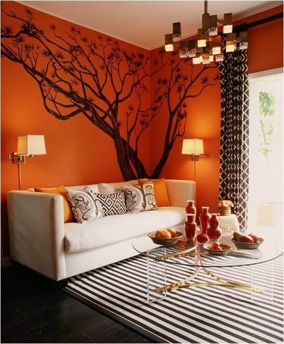 Halloween: Room 9 orange-walls