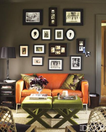 Halloween: Room 16 living_rooms_-_dark_gray_walls_orange_leather_modern_so