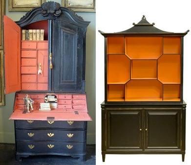 Halloween New Pagoda Cabinet black-orange-furniture