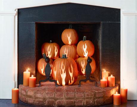 H: 11 CLX-Pumpkin-Decor-fireplace1