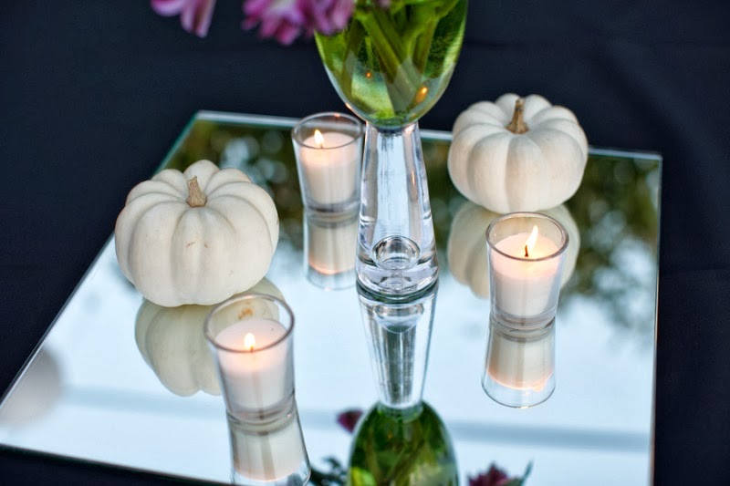 HH: dinner party white pumpkins