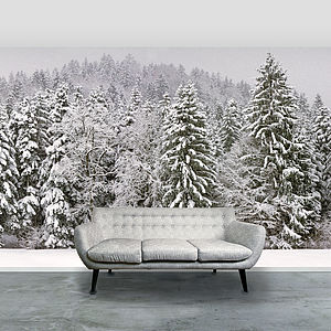 x- Snowy Wallpaper preview_snowy-trees-self-adhesive-wallpaper-mural