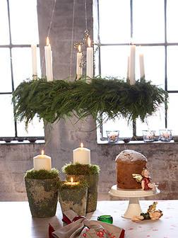 xm- wreath as chandelier