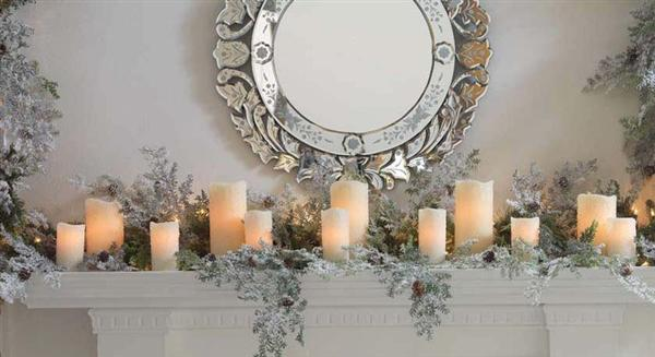 Happy Christmas: Elegant-Fireplace-Mantels-Decor-for-Christmas
