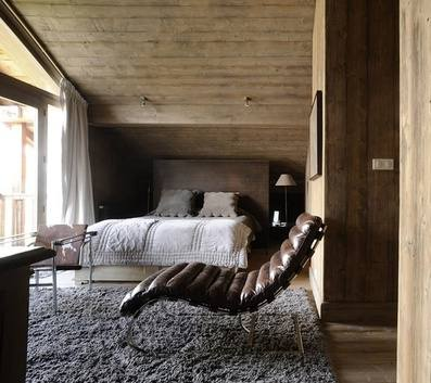 Chalet Interior 14: Bedroom with Lounge Chair 136a524d5c6bff368a5ce8c9b85ba