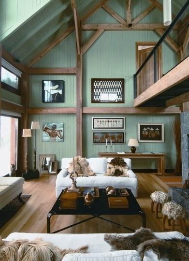 Chalet Interior 14: Green Sitting Room b0ff22296eb786fdc722a75a7bf7ada5