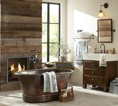 Chalet Interior 14: Bathtub & Fireplace 8aba135ab19e77ab419b6745c93c47ea