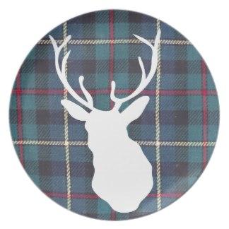 Chalet Product 14: Tartan Stag Plate schottischer_tweed_der_tartanhirschhau