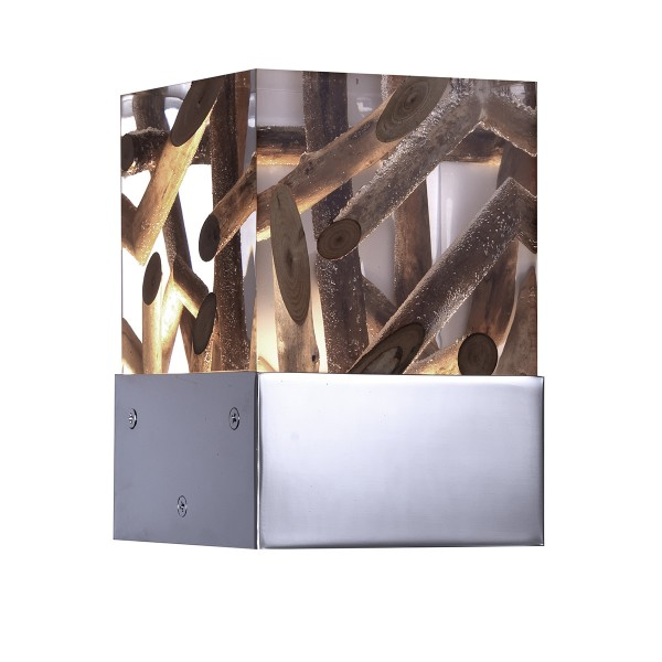Chalet Product 14: Wood/Acryl Suare Wall Light applique-kisimi