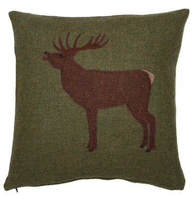 Chalet Product 14 Grean Tweed Stag Cushion JWSTAG