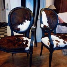 Chalet Product 14: Cowhide Fauteules meubles-et-rangements-cabriolet-louis-