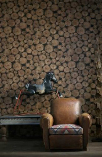 Chalet Product 14: Lumberjack Log Wallpaper engineer-collection-lumberjack-