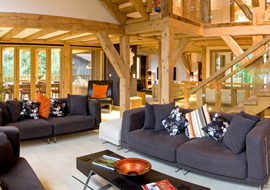 Chalet Interior 14: Ferme sitting room fac 1 rs