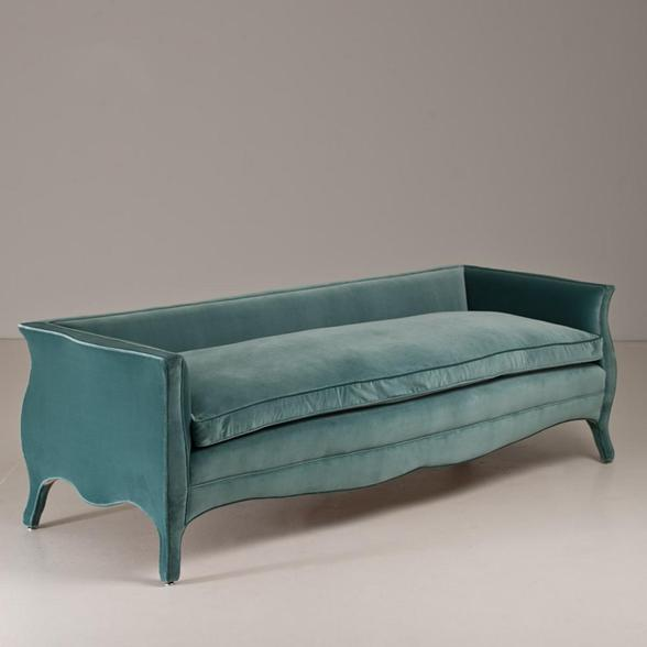 Easter 14: Turquoise Sofa A-Standard-Lowback-French-Style-Sofa-by-Talisman-