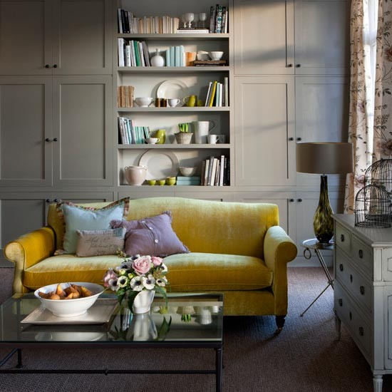 Easter 14: Yellow Sofa Elegant-living-room-Homes--Gardens
