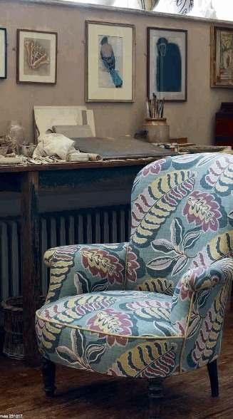 Easter Sofa: Sanderson fabric chair fa