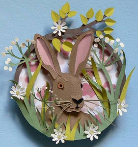 Easter 14: Paper Cutouts march-hare