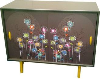 Easter 14: Up-cycled side board flowery-furniture
