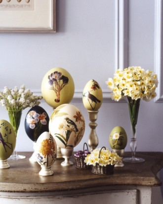 Easter 14 Deco: la104017_0409_mantel1_hd