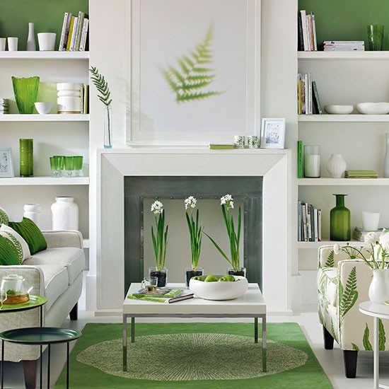 Easter 14 Room: Green-and-White-Living-Room-Ideal-Home-Housetohome
