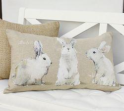 Easter 14 1: 3 Bunny Cushion img4j