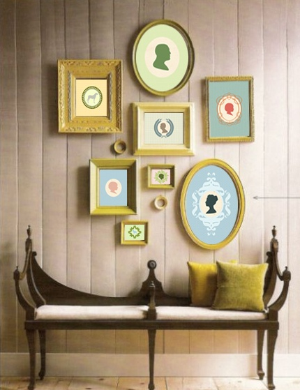 Spring 14 Room: Bench/Silouette Wall Deco 65fb2556fdc0851ed78c9ae4c686ca34