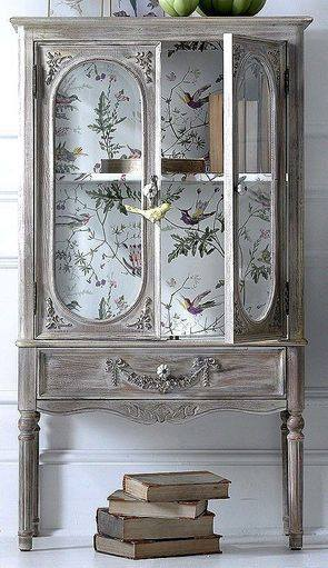 Spring 14: Cabinet with bird wallpaper 3591bee1b5f5ba3ccb766786c42f066d