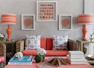 Summer 14 Room: Orange lamps...showhouse