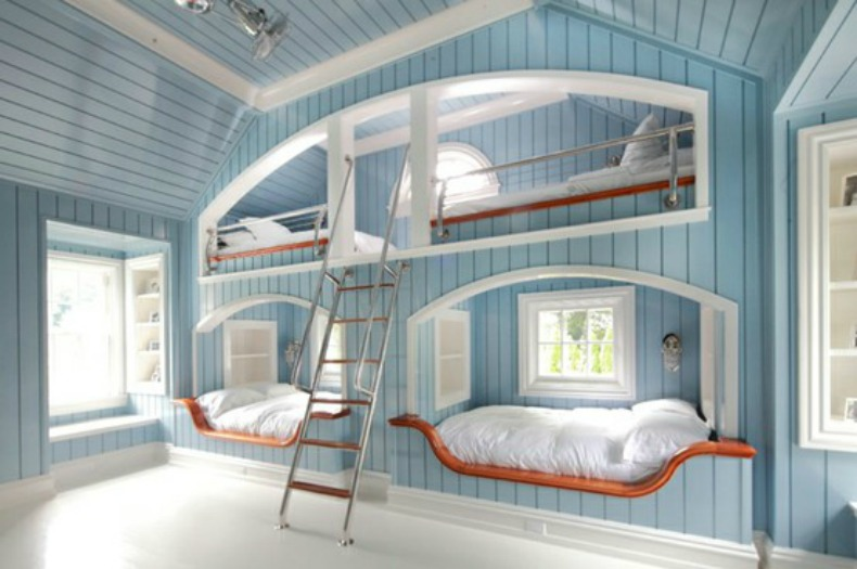 Summer 14 Room: clean-blue-bunks