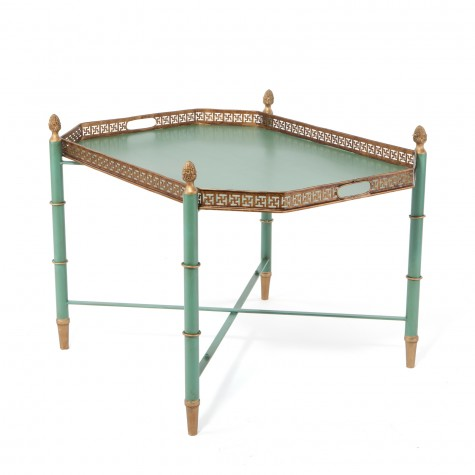 Summer 14-5: Green table hexagon_green_tray_table
