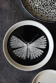 Autum 14: Plates day-birger-et-mikkelsen-ceramics-moth-black-20cm-dia-plate