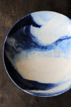Autum 14: Plate indigo-storm-collection-by-faye-toogood-for-1882ltd-serving