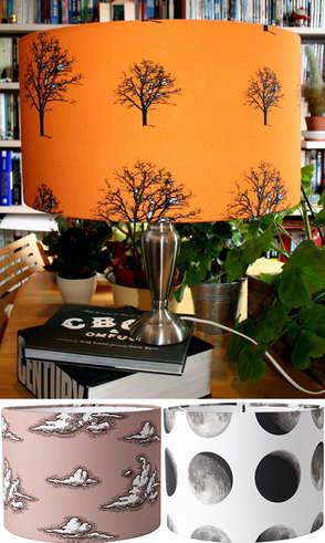 Autum 14: Orange lamp shade lampshade-bargain-british-design
