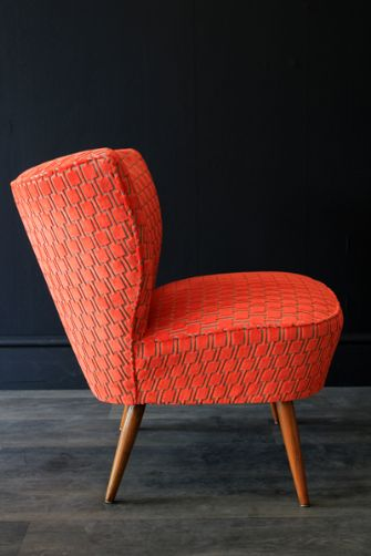 Autum 14: Orange chair upcycled-1950s-bartolomew-cocktail-chair-citrus-oran