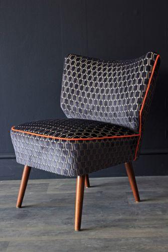 Autum 14: Black chair upcycled-vintage-1950s-bartolomew-cocktail-chair-char
