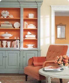 Autum 14 Deco: Blue/orange display shelf 16e49a13e97e99c00910cdadee3078c1