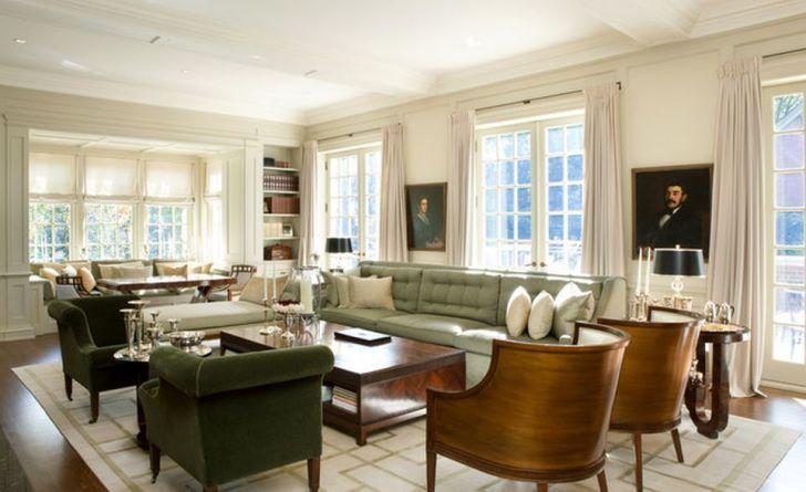 Autum 14 Deco: Cream/green/brown sitting room Adorable-Living-Room-Traditio