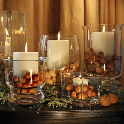 Autum 14 Acc: Nuts in Candle Jars 2541.Natural-autumn-decor.jpg-550x0