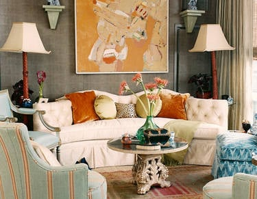Autum 14 Deco: Beautiful-gray-cream-bleu-and-orange-liv-rm1