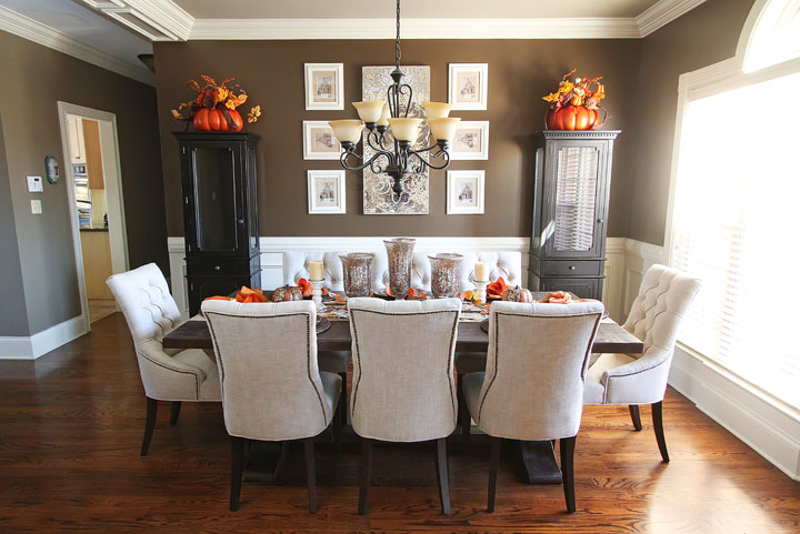 Autum 14 Deco: Brown/cream fall-dining-table-decor-inspiration-2