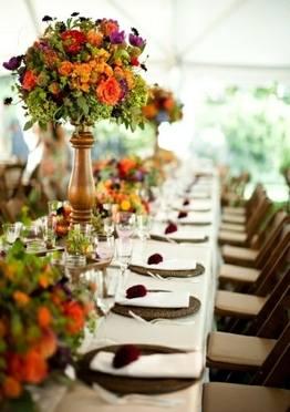 Autum 14 Acc: fall-flower-tablescape-idea