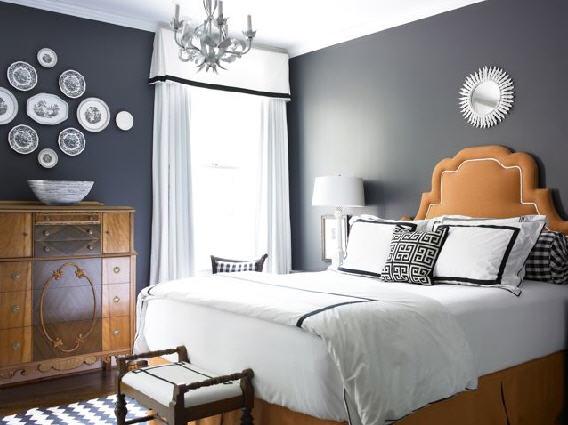 Autum 14 Deco: grey-bedroom-with-orange