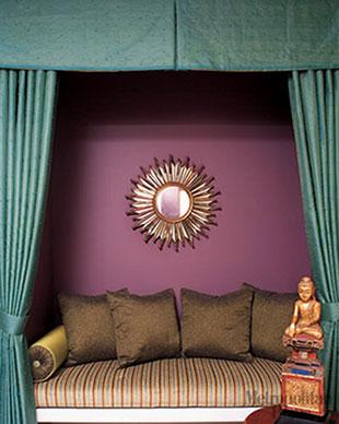 Autum 14 Deco: Purple/green hedborg-sleeping-alcove