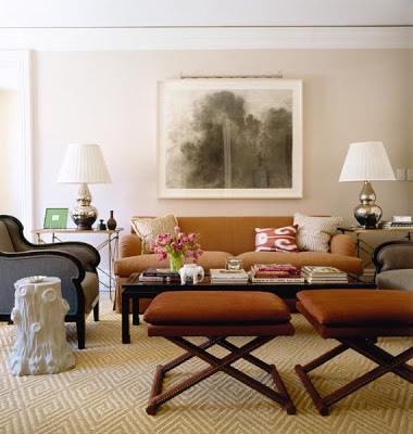 Autum 14 Deco: Cream/brown sitting room Todd Romano Robert Burke 1