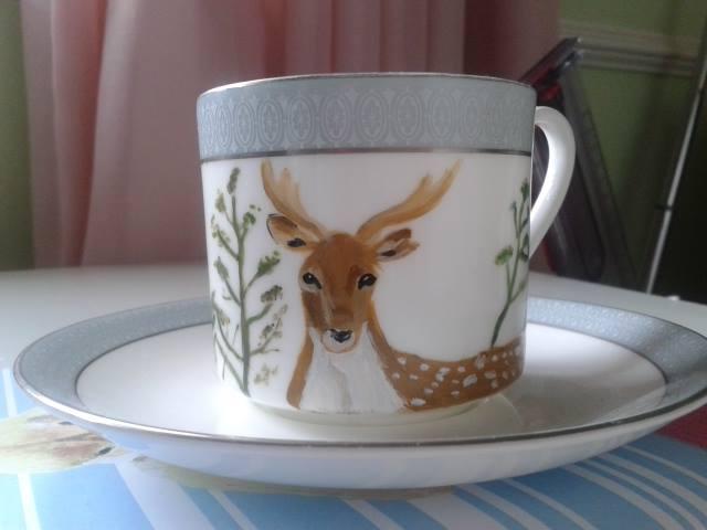 X-Mas 14: Painted Deer Cup 10687072_859332560743536_465670896473629779_n