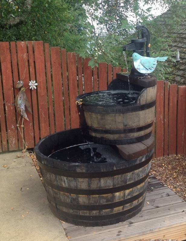 water whisky barrel