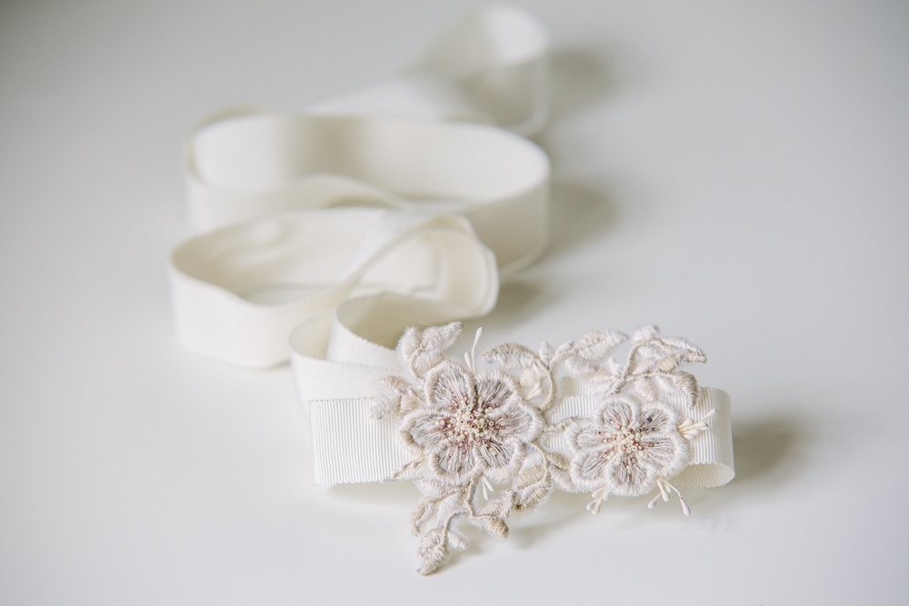 embroidered floral sash
